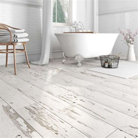 waterproof vinyl flooring with a whitewashed shabby chic