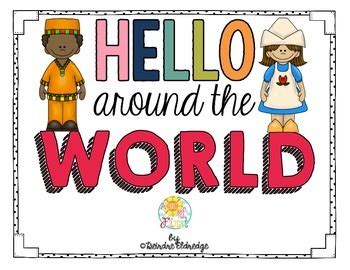 Hello Around the World- Mini Posters by A Burst of First