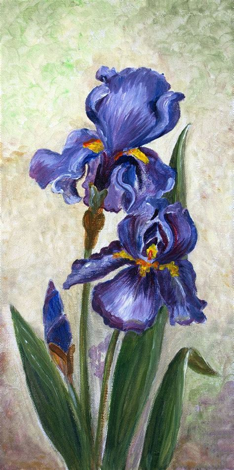 Iris Flowers Oil Painting | Oil painting inspiration
