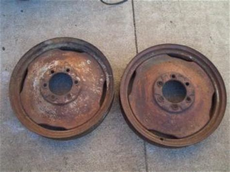 Ford 8N - Scripted Front Wheel - Before - TractorShed
