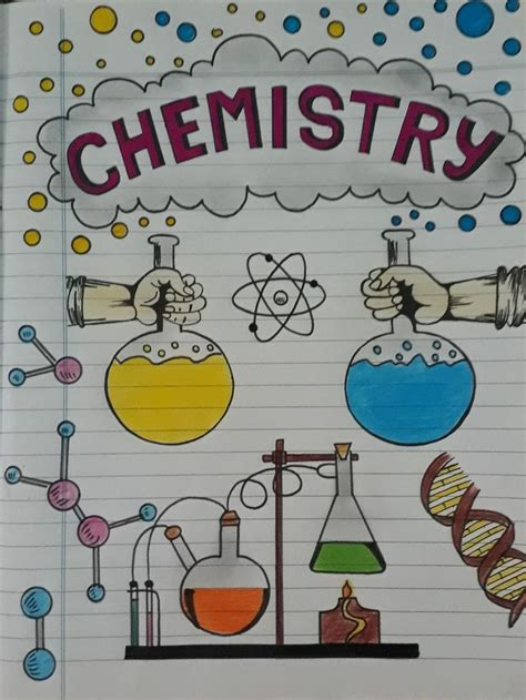 Chemistry cover page decoration   Page borders design