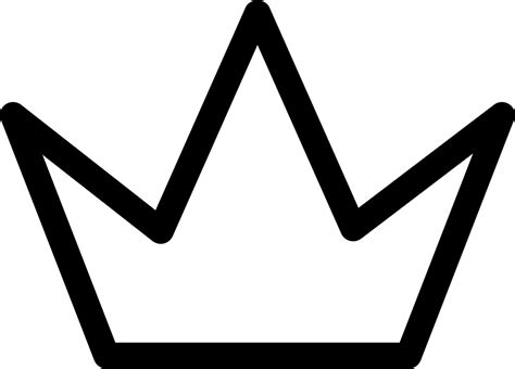 Simple Crown Outline Svg Png Icon Free Download (#31569