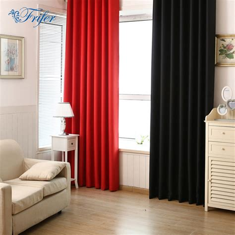 Solid Color Blackout Curtains Full Shade Insulation 100