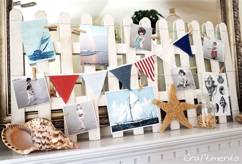 Craftiments: Beach Fence and Sailboat Summer Mantel