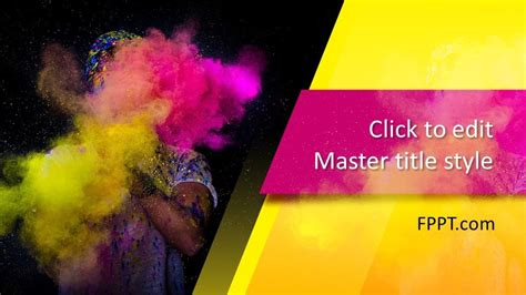 Free Color Art PowerPoint Template - Free PowerPoint Templates
