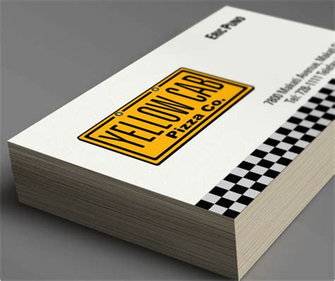 Identity Design for the 'YELLOW CAB Pizza Co