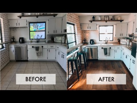 Inexpensive update for old slate flooring using chalk