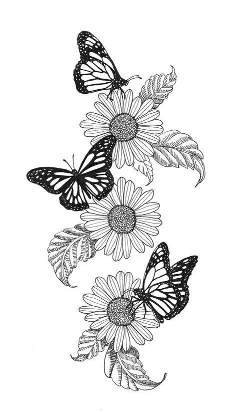 Monarch and flowers   Butterfly sleeve tattoo, Tattoos