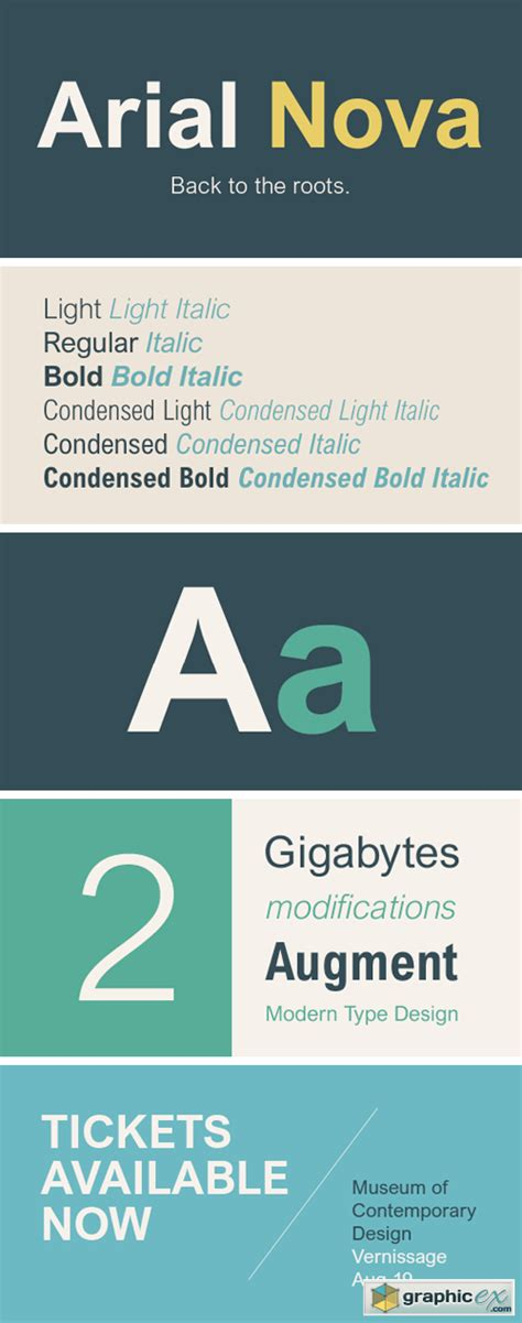 Arial Nova Font Family » Free Download Vector Stock Image