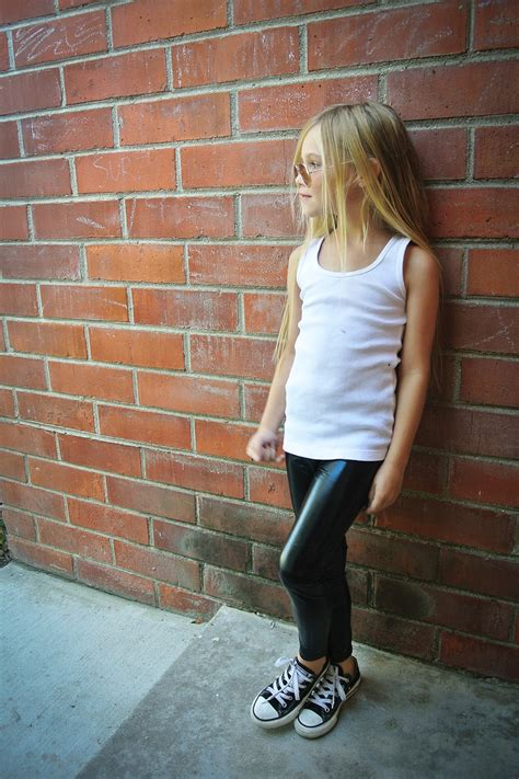 Pop Couture   Faux Leather Legging (Toddler, Little Girls