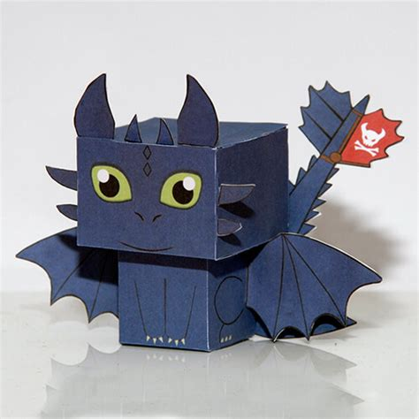 How to Train Your Dragon Toothless Paper Toy | Free