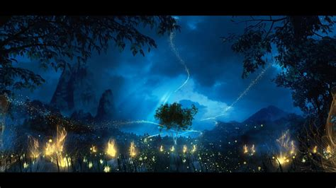 Fireflies in the forest at night 001 3D model animated MAX