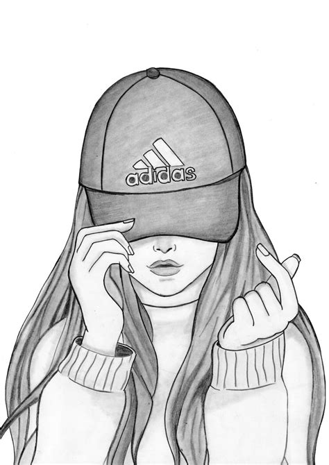 How To Draw a Girl With Cap in 2020 | Art drawings