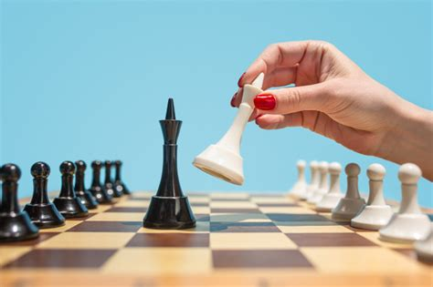 The chess board and game concept of business ideas and