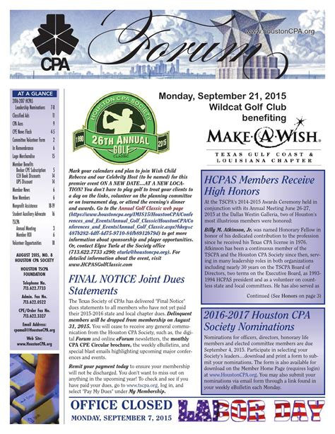 August 2015 CPA Forum by Houston CPA Forum - Issuu