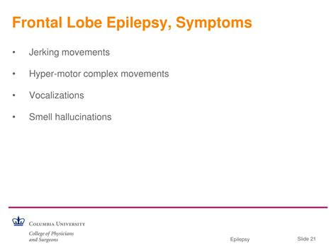 PPT - Outpatient Epilepsy Care for the Internist: Part I