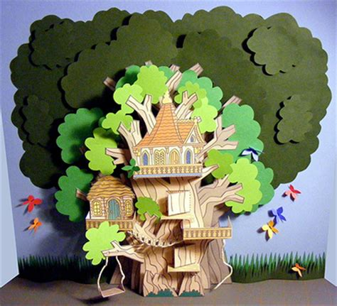 3D Paper Tree House - My Little House