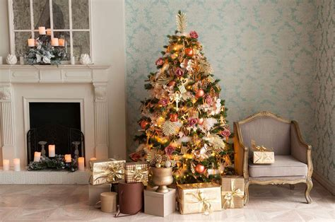 Christmas Tree And Fireplace Background For Christmas